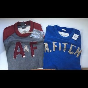 Two Abercrombie Quarter Sleeve Length Shirts